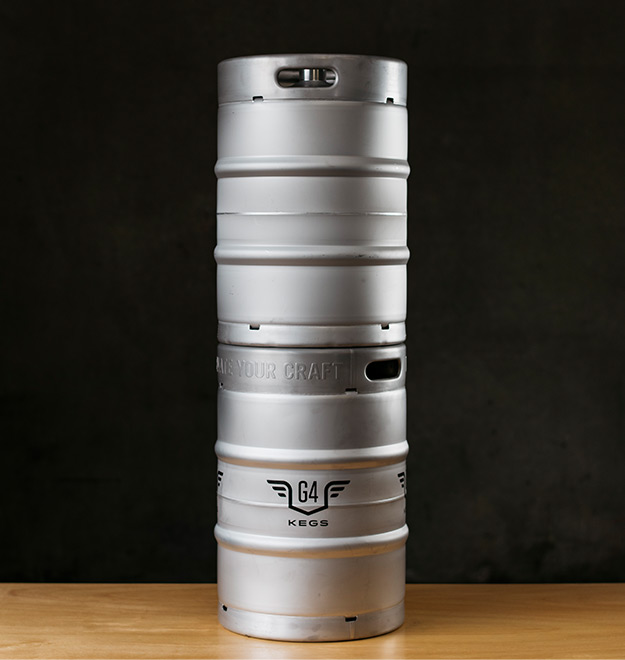 1/2 BBL Stackable Stainless Steel Kegs