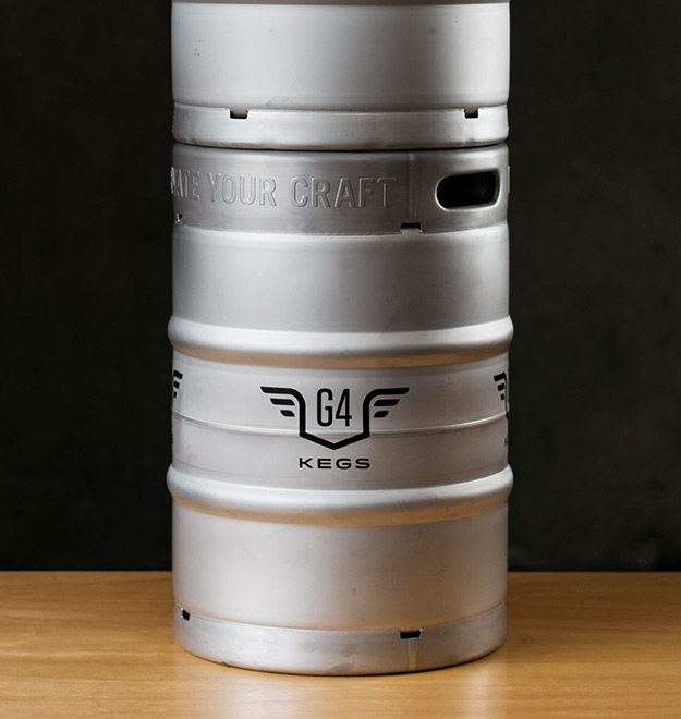 Stackable 1/2 BBL Stainless Steel Kegs
